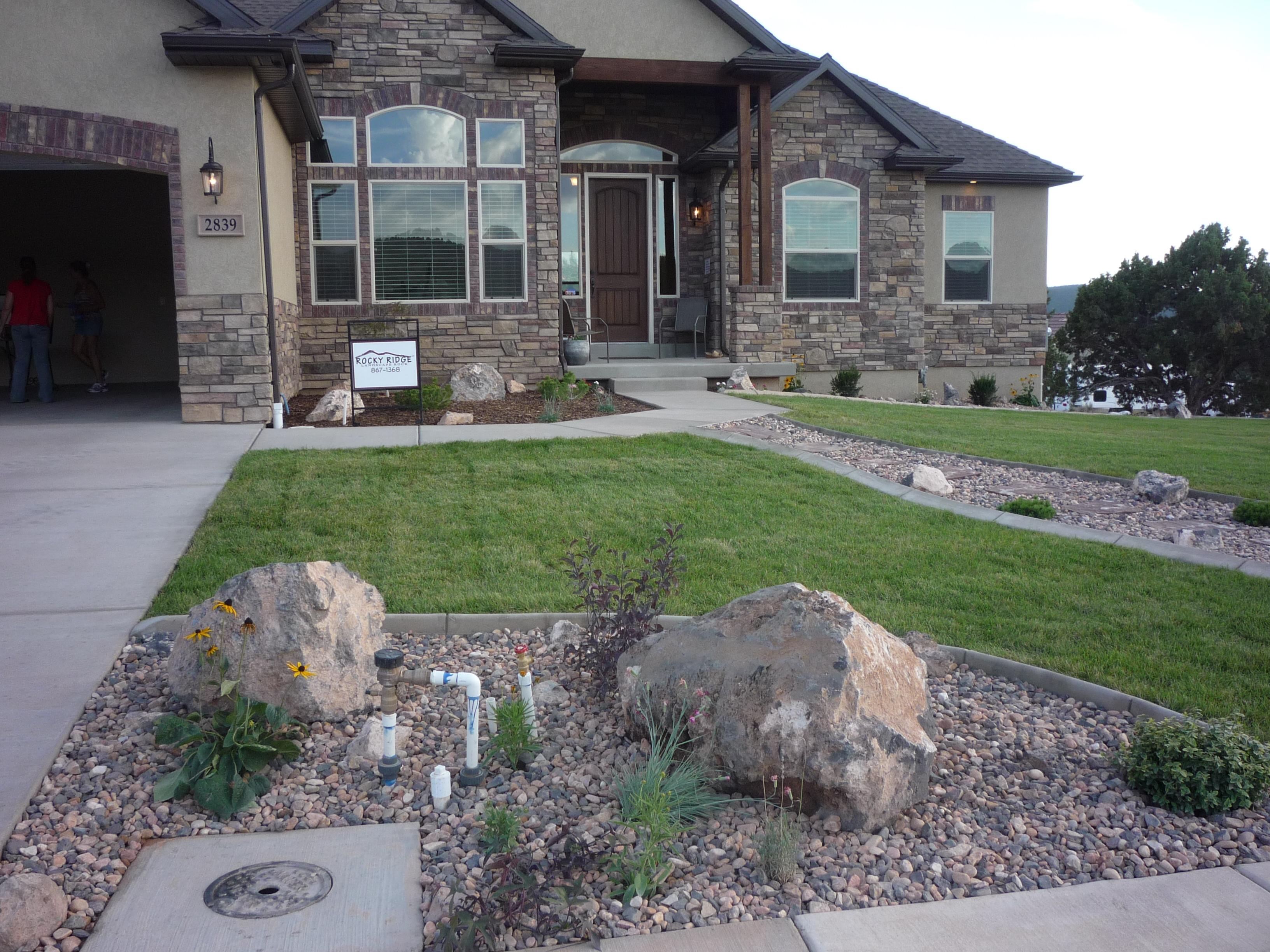 Rocky Ridge Grass, Boulders, Gravel, in Cedar City Utah