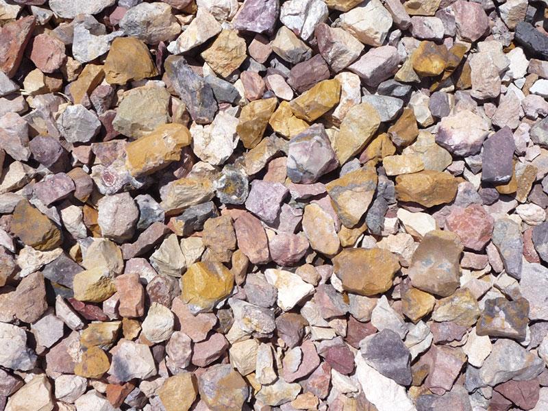 painted desert decorative landscape rock