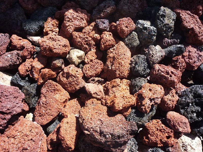 red cinder landscape rock