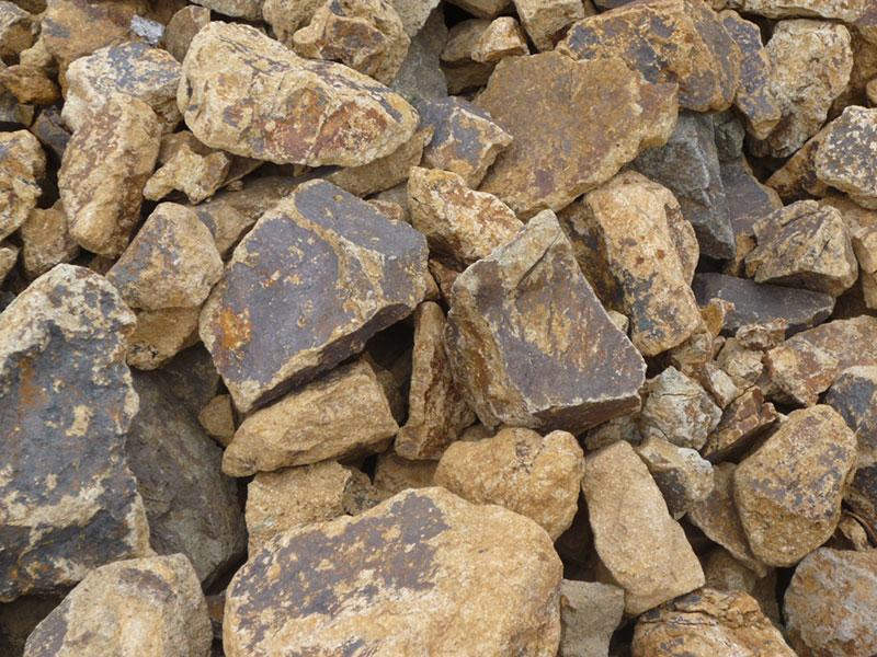 rustic gold landscape rock