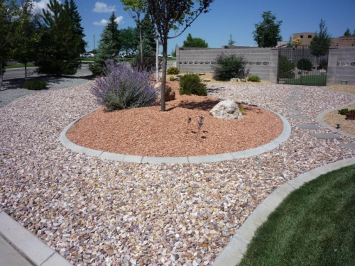 Decorative rock landscape rocky ridge rock for Installing river rock landscaping