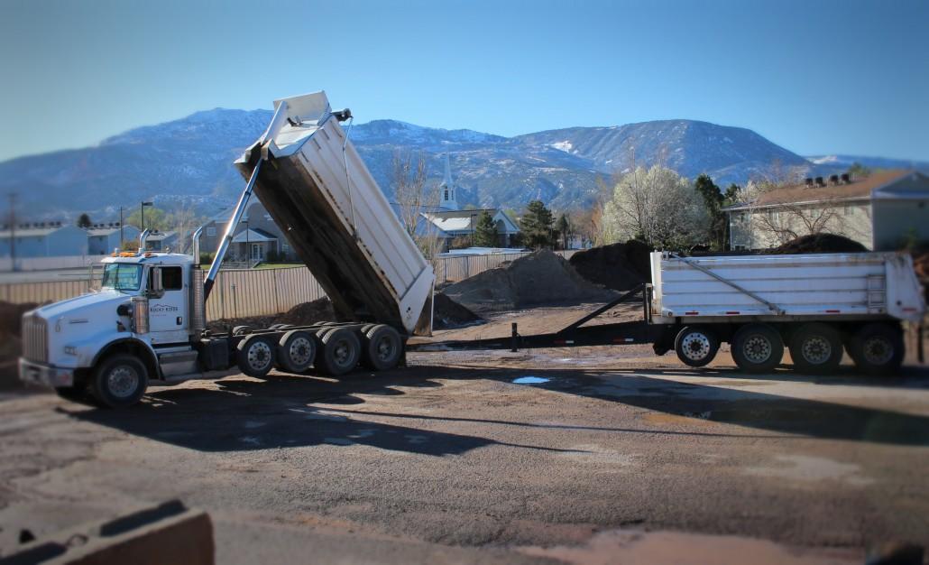 Dump Truck, Haul Dirt,