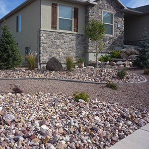 ... Garden Design With Landscape Rock In Cedar City RollOffs In Cedar City  With Grass Plants From